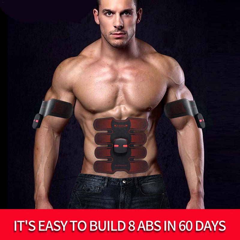 Upgraded EMS Abdominal Muscle Training Machine Wireless Abdominal Fitness Device Charging Smart Lazy Belly Stickers WithRemotel