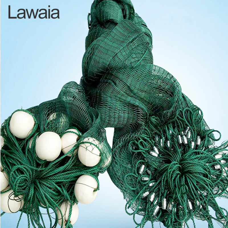 Lawaia 5m filets de pêche forts filets de pêche tirer fer sinker tirer-net garde-corps Anti-oiseau filet, poissons étangs Dragnet personnaliser