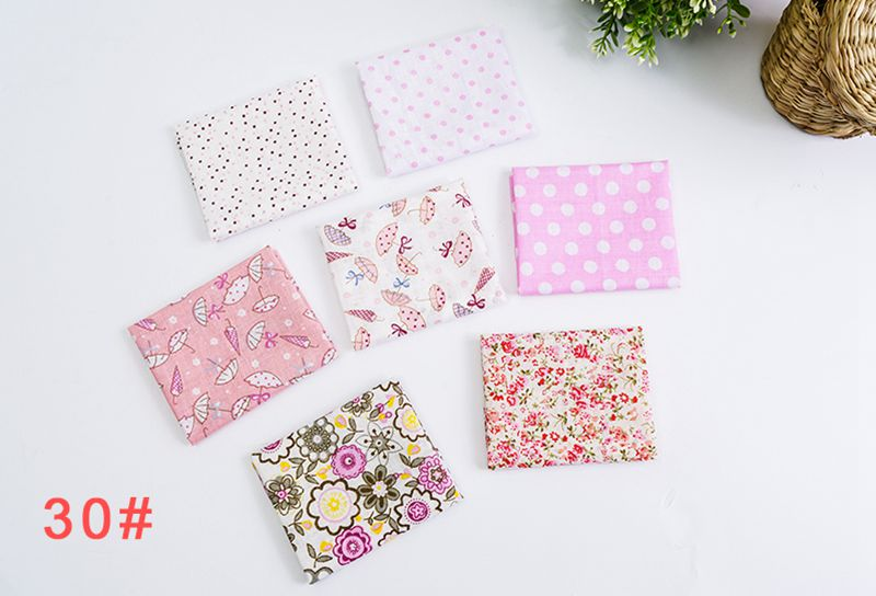 H291565ad4cd94290bc6987390ec96379X 25x25cm and 10x10cm Cotton Fabric Printed Cloth Sewing Quilting Fabrics for Patchwork Needlework DIY Handmade Accessories T7866