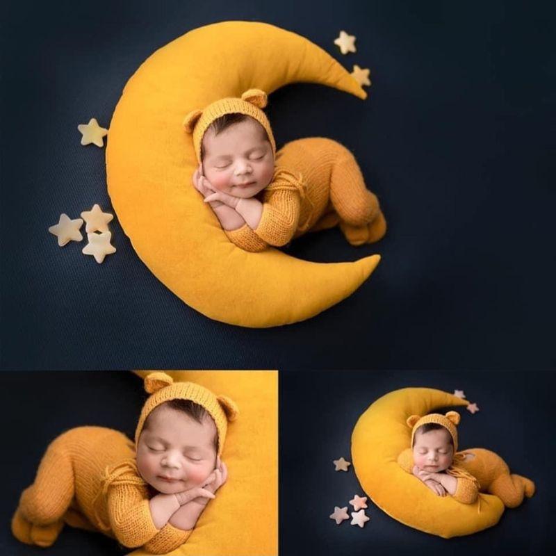 11.07US $ 18% OFF Baby Hat Posing Beans Moon Pillow Stars Set Newborn Photography Props Infants Phot...