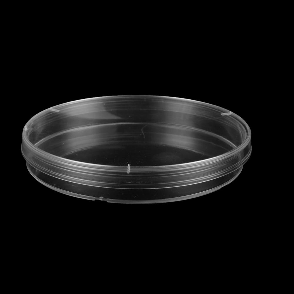 90mm Plastic Transparent Petri Dishes Microorganisms Cell Bacterial Culture Dish Biological Chemistry Laboratory Instrument 5Pc