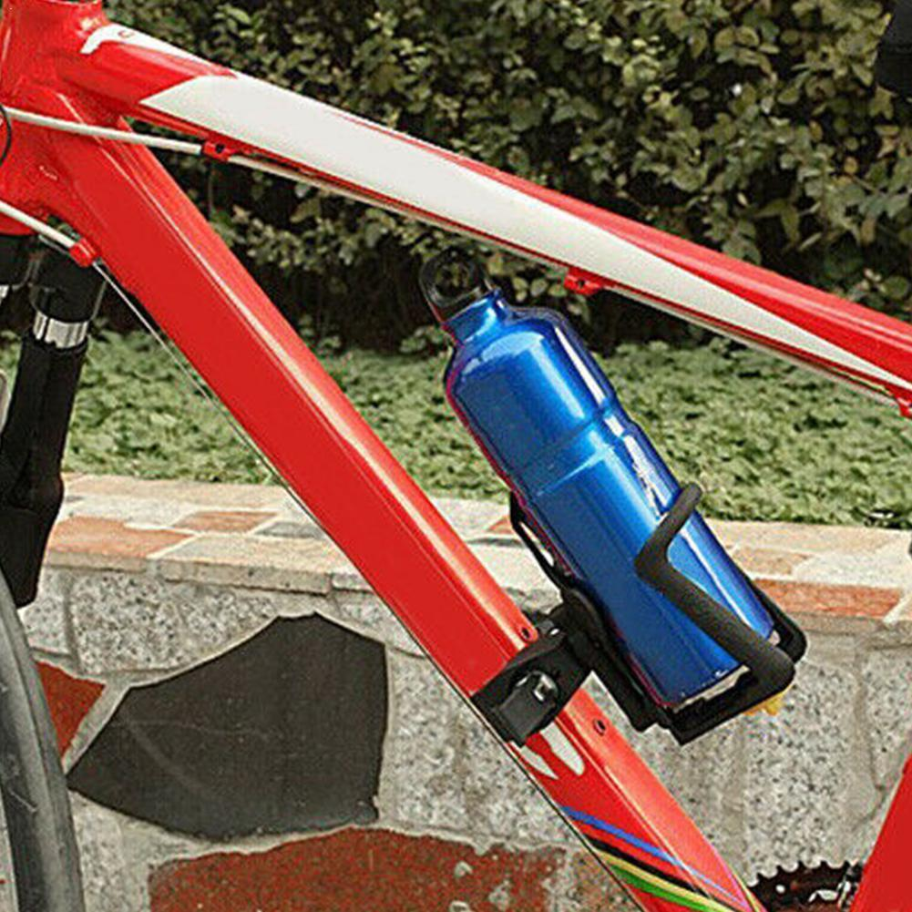Plastic Bicycle Water Bottle Cage Holder Stand Cycling Handlebar Rack Mount Accessories For Bike Riding Universal Clamp C3R4