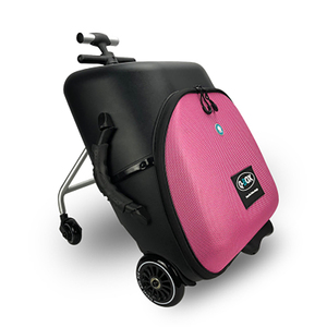 Image 3 - New design lazy baby sit on scooter luggage kids carry on travel suitcase bag boarding skateboard creative trolley case