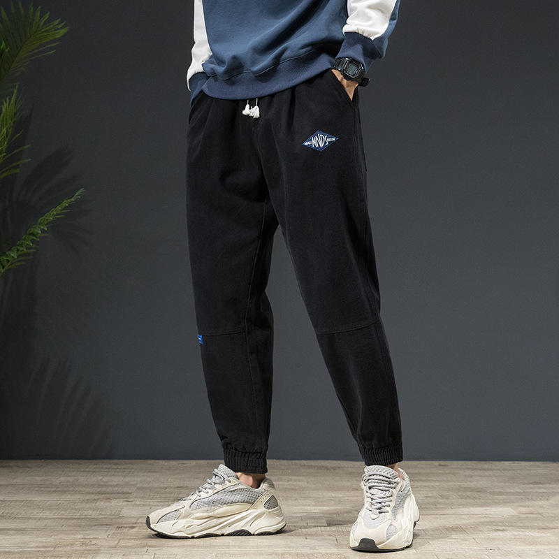 2019 Autumn And Winter New Style MEN'S Trousers Harem MEN'S Jeans Fashion Casual Ankle Banded Pants Korean-style Men's Popular B