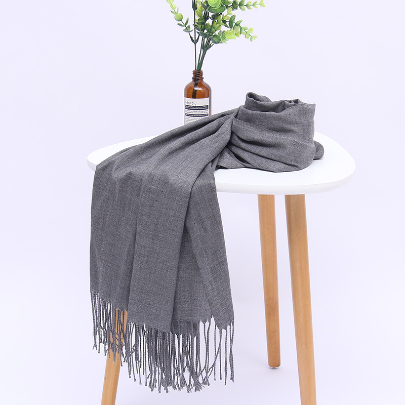 Women solid color cotton scarves with tassel lady thin spring scarf summer luxury female shawl warm scarve for women 2020(China)