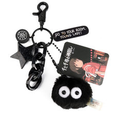 2020 New black coal spirit key chains high quality key chain spirited away key ring jewelry gift to a friend(China)