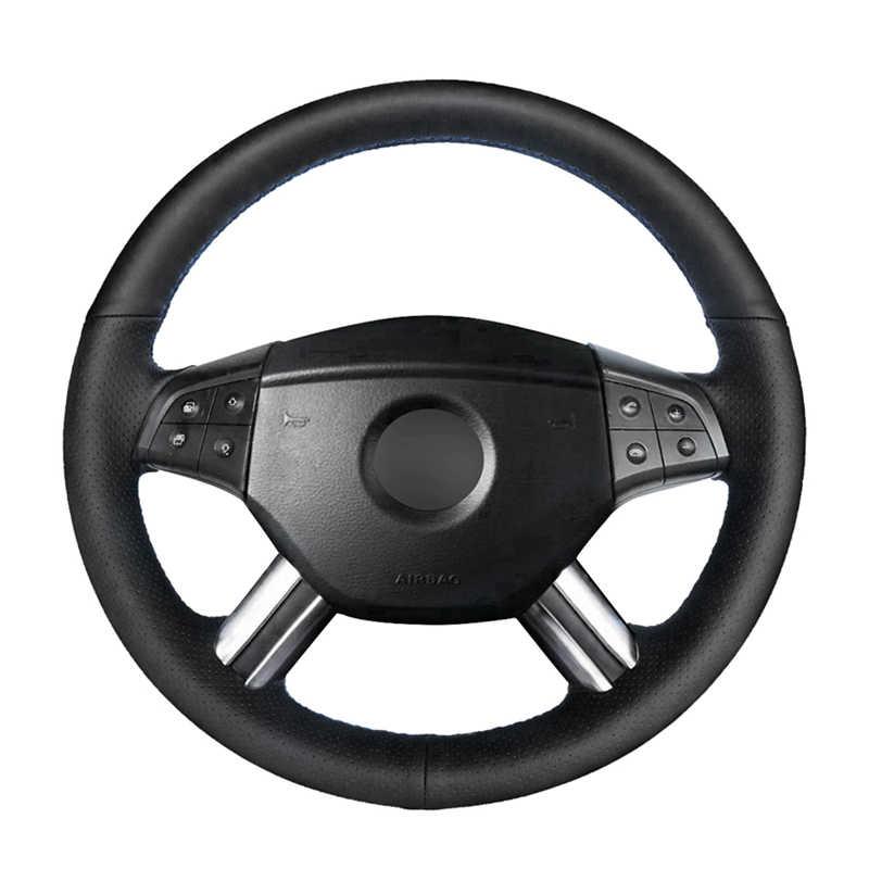 Mão costurado genuíno couro de bezerro capa de volante do carro para mercedes benz w164 m-classe ml350 ml500 x164 gl450