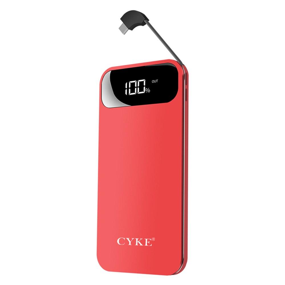 Neue Dünne tragbare 10000mAH große kapazität mobile power kommt mit draht unterstützung USB schnelle aufladen intelligente display Power
