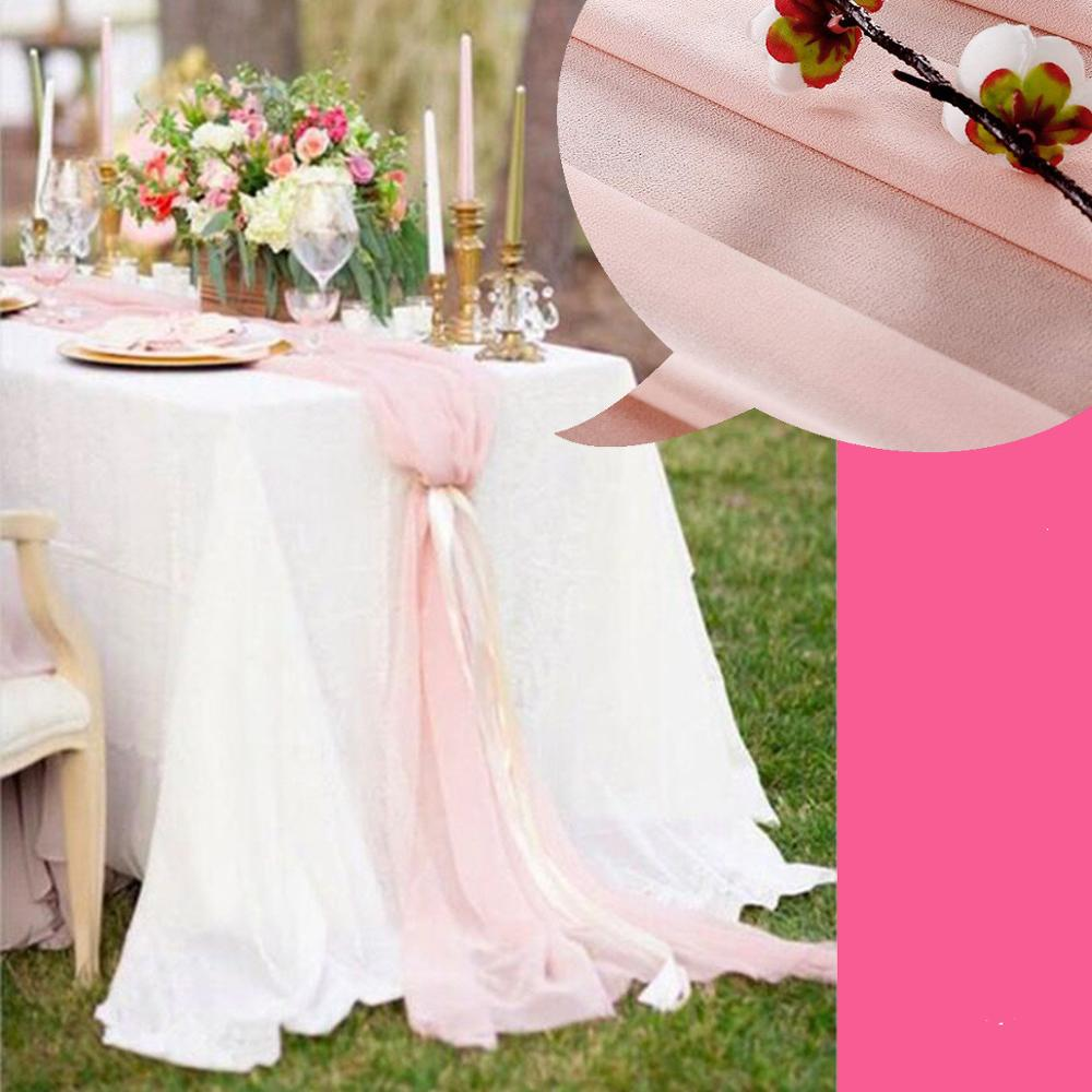 New Elegant Beautiful Wedding Chiffon Table Runner Unique Luxury Good Quality Tablecloth Accessories For Party Event Banquet
