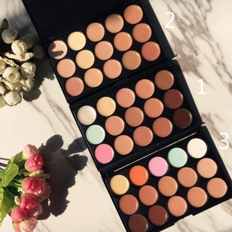 15 цветов консилер для лица Палитра крем контур макияж консилер макияж Женские аксессуары для красоты