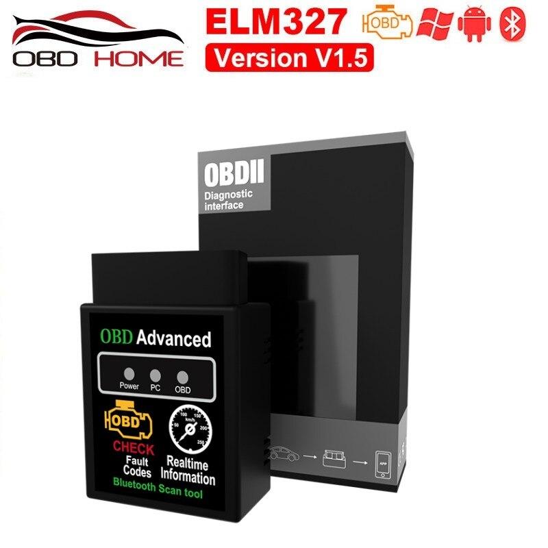 Сканер OBD2 HHOBD Advanced ELM327 V1.5 V2.1 Bluetooth OBD2 HH OBD V1.5 для проверки кода неисправности, сканер кода неисправности для диагностики автомобиля