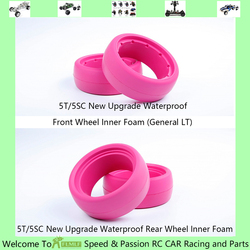 Upgrade Waterproof Front and Rear Wheel Inner Foam Fit for 1/5 HPI ROFUN ROVAN KM BAJA 5T 5SC Losi 5ive T RC CAR PARTS