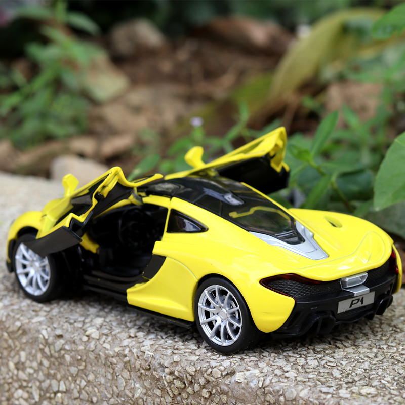 1:32 For McLaren P1 Alloy Diecast Car Model Toy Vehicles Car With Light Sound Gift For Baby Collectible
