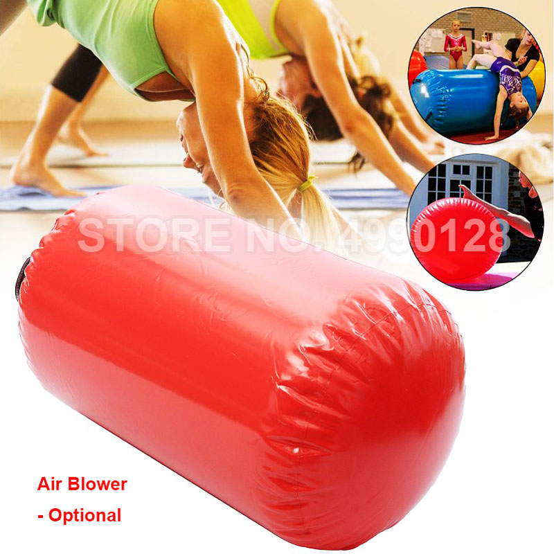 Free Shipping 100x60cm Tumbling Inflatable Air Roller Air Barrel Home Large Yoga Gymnastics Exercise Cylinder Gym Beam