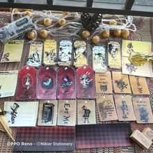 42 pçs \ set retro alice vintage kraft bilhete stub material decoração adesivo diário diy ablum diário scrapbookin adesivos etiqueta