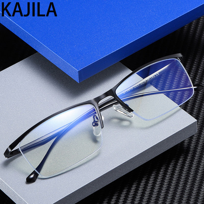 Anti Blue Light Glasses Frame Men Half Rimless 2020 Eyeglasses  Man Computer Gaming Glasses For Men Lunette Lumiere Bleue Femme