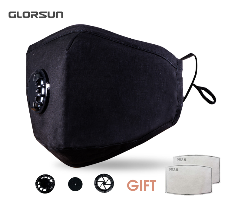 GLORSUN PM 2.5 Anti Pollution Mask Dust Respirator Washable Reusable Masks Cotton Unisex Mouth Muffle For Allergy/Asthma/Cycling