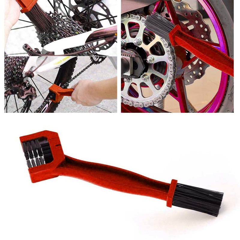 Motorcycle Chain Cleaning Brush Brake Dirt Remover Tool Bicycle Chain Cleaning Brush Gear Grunge Brush Cleaner Auto Accessories