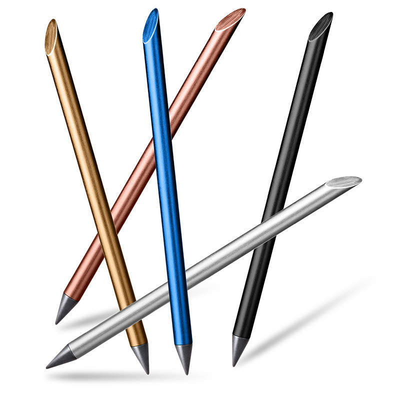 Ebedi Kalem Beta Kalem Mürekkepsiz Metal Kalem Yaratıcı Boyama ile Ücretsiz İpucu Kalem Hediye Kalem Basılabilir yazma kalemler title=