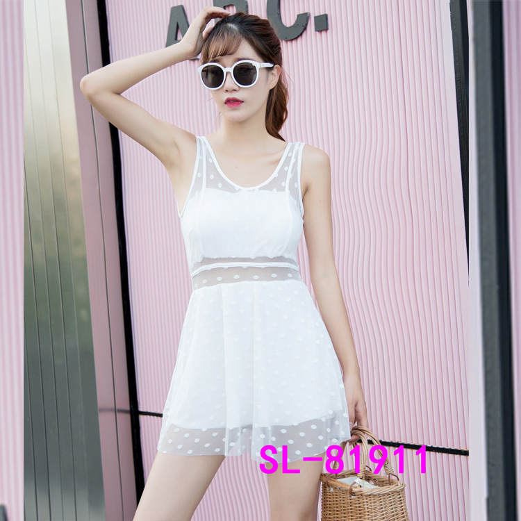 Factory Price Korean-style One-piece Boxer Bathing Suit Body Hugging Weight Control Conservative Hot Springs Tour Bathing Suit 8