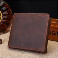 männer Echte Leder Karte Brieftasche Kurze Männer Männlichen Kleine Dünne Dünne Münze Brieftasche Bifold Trifold brieftaschen