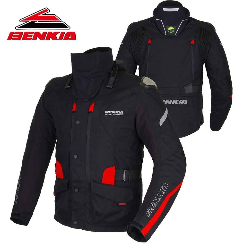 BENKIA Moto Giacca Moto Da Corsa Giacca di Inverno Tenere Al Caldo del Collo di Protezione Gear Con Fodera Staccabile Giacca Moto JD10