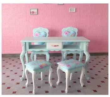 American manicure table and chair set single double three person manicure table glass economy manicure shop manicure table - DISCOUNT ITEM  27 OFF Furniture