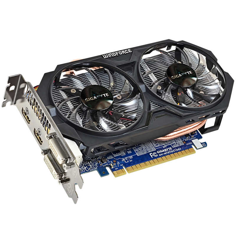 Gigabyte WINDFORCE Card Đồ Họa GTX 750 Ti Video Card NVIDIA GeForce GTX 750 Ti GPU 2GB GDDR5 128 bitfor Máy Tính Sử Dụng Thẻ