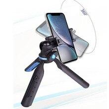 Tripé de telefone pequeno suporte de câmera mini tripé de mesa para smartphone dslr câmera iphone xs max x 8 7 plus samsung para huawei