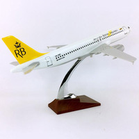 36cm Alloy Diecast Aircraft 1/100 scale Airbus A320 200 model Royal Brunei airlines airplane collectible plastic Toys plane Gift