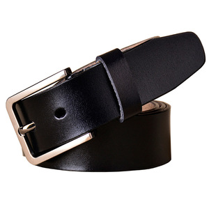 Image 4 - Fashion genuine leather belts for women Luxury designer pin buckle belt female Quality second layer cow skin strap Width 3.3 cm