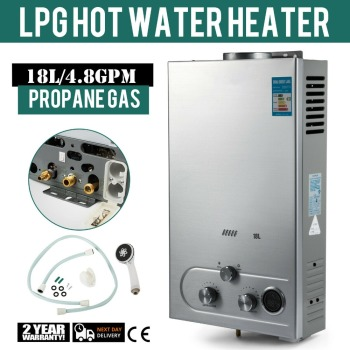 Propane Hot Water Heater 6/8/10/12/16/18L Gas Water Heater 4.8GPM Stainless Steel Instant Liquefied Petroleum Gas Water Heater stainless steel water heater 10 liters shanghai set up