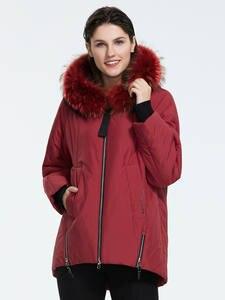 Astrid 2019 Зима новое поступление пуховик женский с меховым воротником толстый хлопок свободная одежда верхняя одежда высокое качество зимнее ...