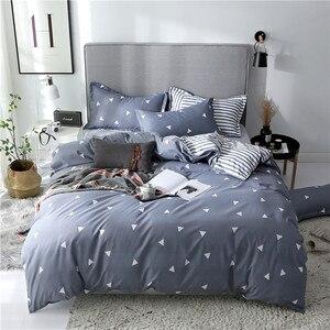 Image 3 - Slowdream フラットシート寝具セット北欧ダブルツイン布団カバーセット家の装飾のベッドリネンセット寝具大人寝具