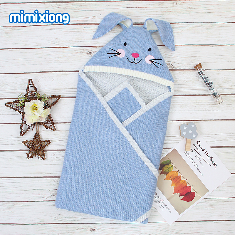 Baby Blankets Newborn 100%Polyester Knitted Infant Bebes Swaddle Wrap Blanket Soft Toddler Sofa Crib Bedding Quilt 80*80cm Cover