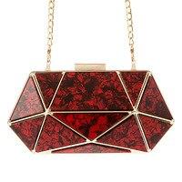 Xianjian Beautiful Acrylic Purse Tortoise Marble Purse Prom Party Grab Clutch Purse Evening handbag
