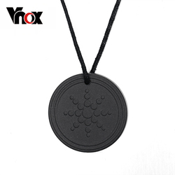 Vnox Quantum Scalar Energy Pendant Necklace for Women Men 2000 ~ 3000 ions Energy Power Health Care Lava Stone Male Jewelry