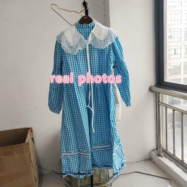 SHENGPALAE contraste couleur robe femmes printemps 2021 nouveau col claudine simple boutonnage bulle manches ample Plaid Maxi robes