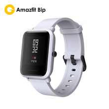 "Huami Amazfit Bip สมาร์ทนาฬิกา Reflection หน้าจอสี 1.28 ""Baro IP68 กันน้ำ GPS สำหรับ Android และ iOS (สีดำ)"