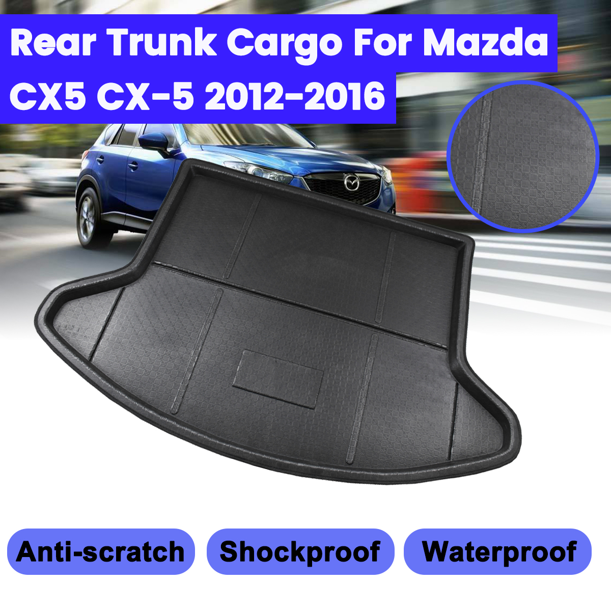 Rear bumper protector for Mazda CX-5 KE GH 2012-2017 Stainless Steel