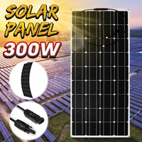 Semi flexible Solar Panel 300W 18V Monocrystalline Solar Cell DIY Module Cable Outdoor Waterproof Connector Battery Charger