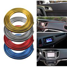 цены 5m Universal Car Interior Moulding Trims Line Strips Auto Car Door Gap Edge Trim Strip Decorative Line Sticker car Accessories