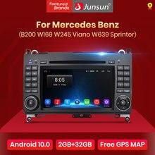 Автомагнитола Junsun 2DIN, мультимедийный проигрыватель с DVD для Mercedes Benz B200, класс A, B, W169, W245, Viano, Vito, W639, Sprinter, W906, навигация