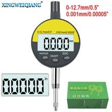 """0,001 мм Электронный микрометр 0,0000"""" цифровой микрометр метрический дюймовый диапазон 0-12,7 мм 0,5"""" циферблатный индикатор с розничной коробкой"""