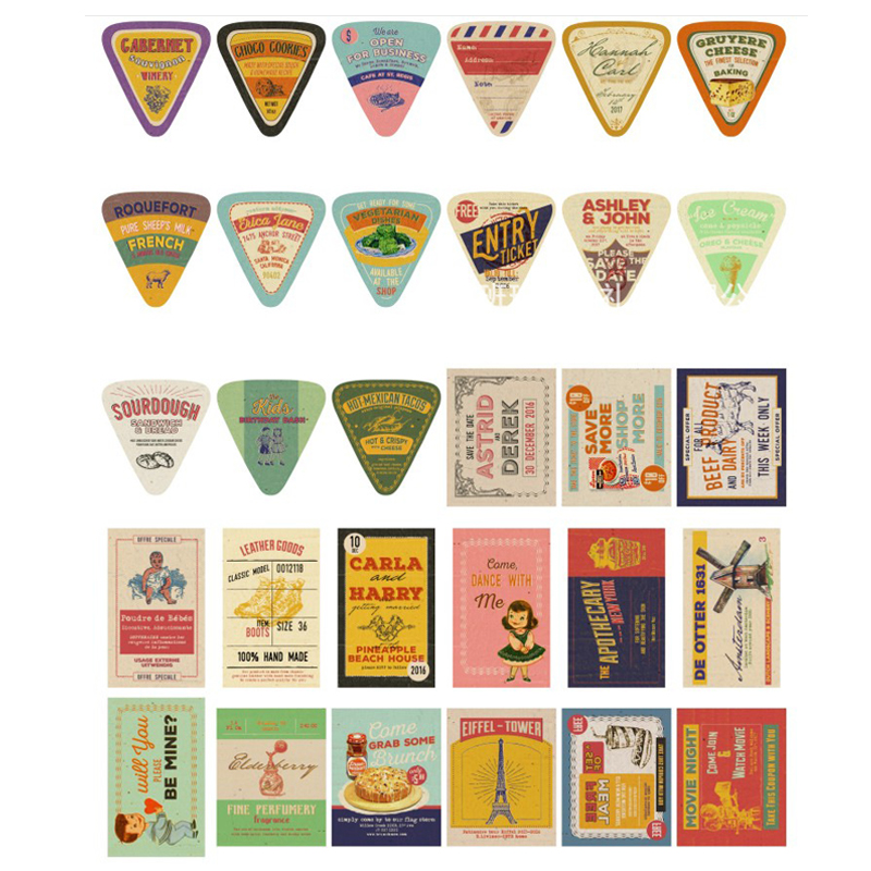 30 Pcs/lot Lovely American Advertisingt Mini Postcard Message Card Christmas Gifts