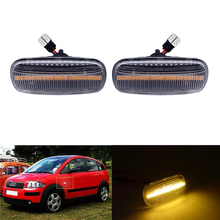 2 Pcs Signal Lamp LED Car Not Dynamic Side Marker 18SMD Turn Signal Light For Audi A3 S3 A8 TT Turn Indicators Blinker Light