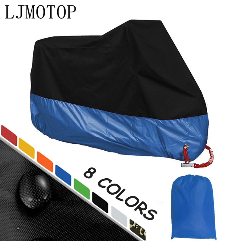 Motorcycle Cover All Season Waterproof Rain Cover Outdoor UV Protection Moto Scooter Motorbike Rain Cover M L XL XXL XXXL XXXXL
