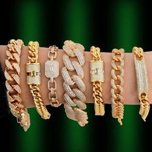 GODKI Luxury Chunky Link Bracelet For Women Wedding Full Cubic Zircon Crystal CZ Dubai  Bracelet Party Jewelry 2020