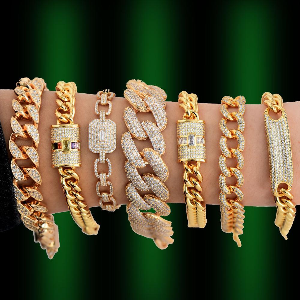 GODKI Luxury Chunky Link Bracelet For Women Wedding Full Cubic Zircon Crystal CZ Dubai Silver Bracelet Party Jewelry 2020Bangles   -