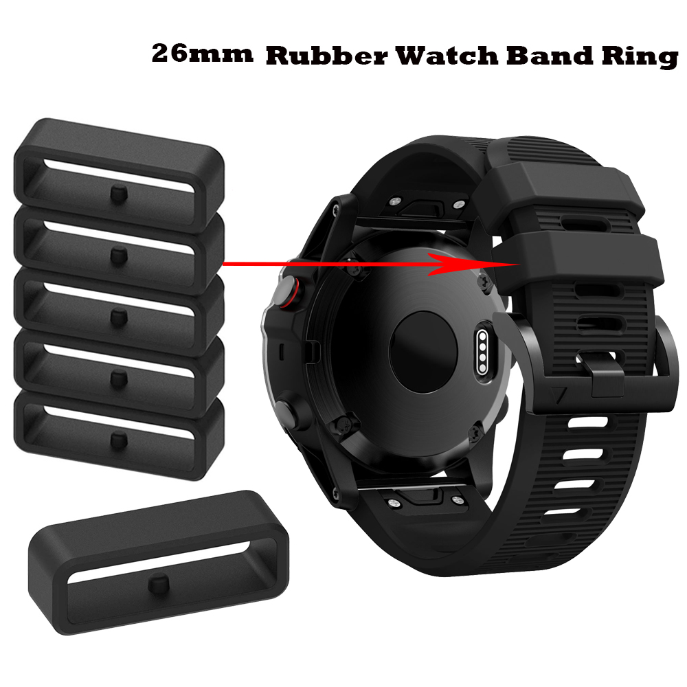 10X Rubber Fastener Rings Security Loop Replacement For Garmin Fenix 5X/5X Plus 6X/6X Pro Watch Band Ring For Garmin Fenix 3/3HR